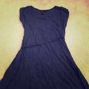 T Shirt Dress with fabric tie